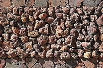 棕色石块背景墙