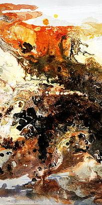 抽象画 竖版抽象油画
