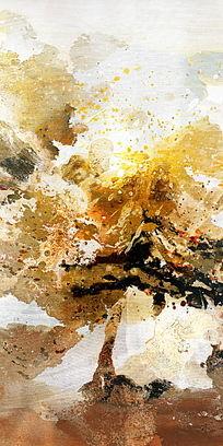 抽象 水墨 流彩 现代水墨画