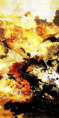 抽象油画 玄关壁画 端景背景墙