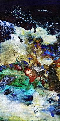 竖版抽象油画 抽象画