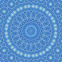 蓝色数码印花 地毯花型