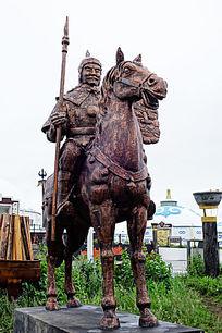 蒙古族士兵雕塑
