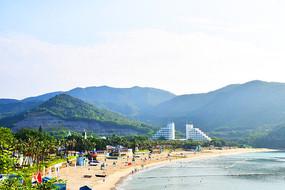 小梅沙沙滩海洋全景图