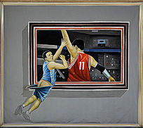 3D打篮球立体画