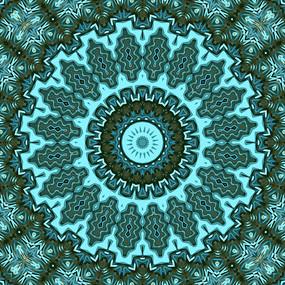 复古 圆形 放射形状 数码印花