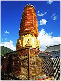 显通寺之铜塔贴金