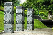 花岗岩浮雕石柱