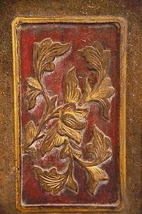 木雕菊花图案