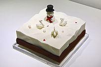 小雪人蛋糕