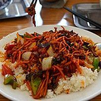 鱼香肉鱼盖浇米饭