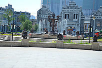 哈尔滨老道外喷泉