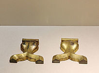 汉代漆案的鎏金铜部件