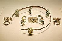 汉代漆案鎏金铜银部件