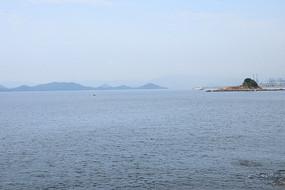 蓝色海洋辽阔海面