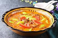 笋干菜丝瓜煮番茄