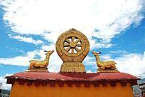 西藏大昭寺祥麟法轮金顶高清大图