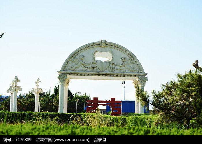 欧式石雕拱门图片