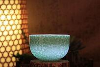 光照绿花杯