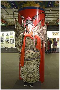 京剧人物雕塑