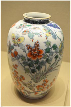 五彩花卉 蝴蝶罐