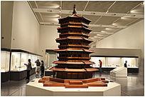中式建筑模型文昌阁