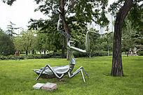 不锈钢螳螂艺术雕塑