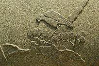 大理石喜鹊雕刻图案