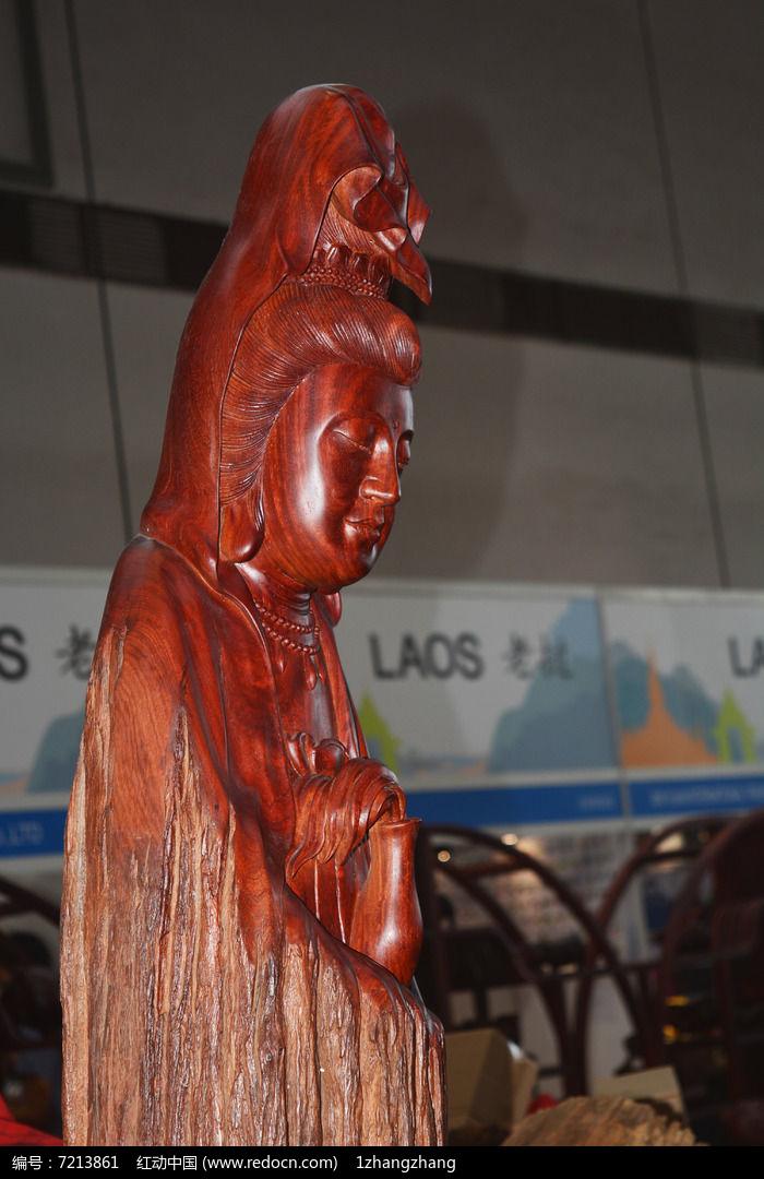 观音红木木雕图片,高清大图_雕刻艺术素材