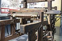 抗日战争时期用过的织布机