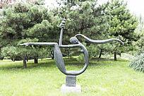 母子情深艺术雕塑