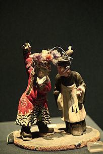 清朝戏曲人物泥塑