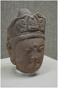 石雕佛头像