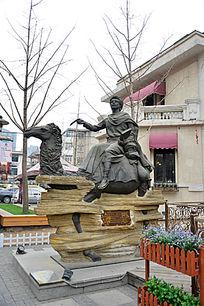 天津意大利风情区租界马可波罗雕像