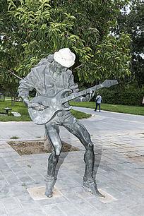 摇滚青年艺术雕塑