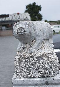 猪形柱头艺术雕塑