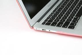 笔记本局部特写键盘