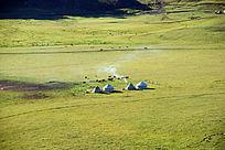 禾木草原哈萨克毡房