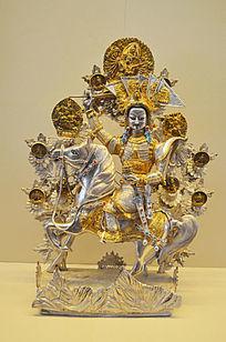 鎏金装饰松赞干布像