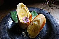 快手早餐煎香蕉卷儿美食高清大图