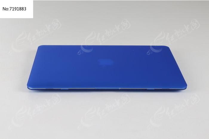 蓝色笔记本电脑图片