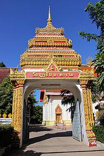老挝寺庙门楼