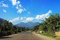 老挝乡村公路