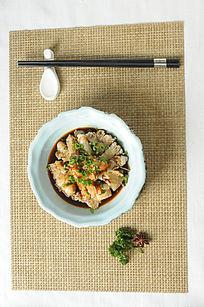 温州传统冷食江蟹生摄影图片