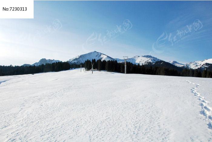 乌鲁木齐南山牧场金泉沟雪景