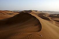 新疆库木塔格沙漠沙丘沙浪