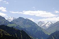新疆天山天池雪山博格达主峰