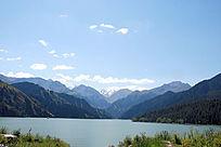 新疆天山天池雪山风景