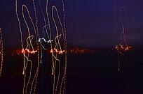 夜幕下的光线图片