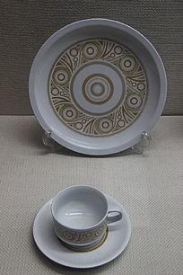 彩陶纹餐具
